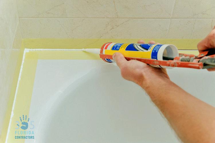Bathroom Caulk |Home Improvement Tips 305 Florida Contractors