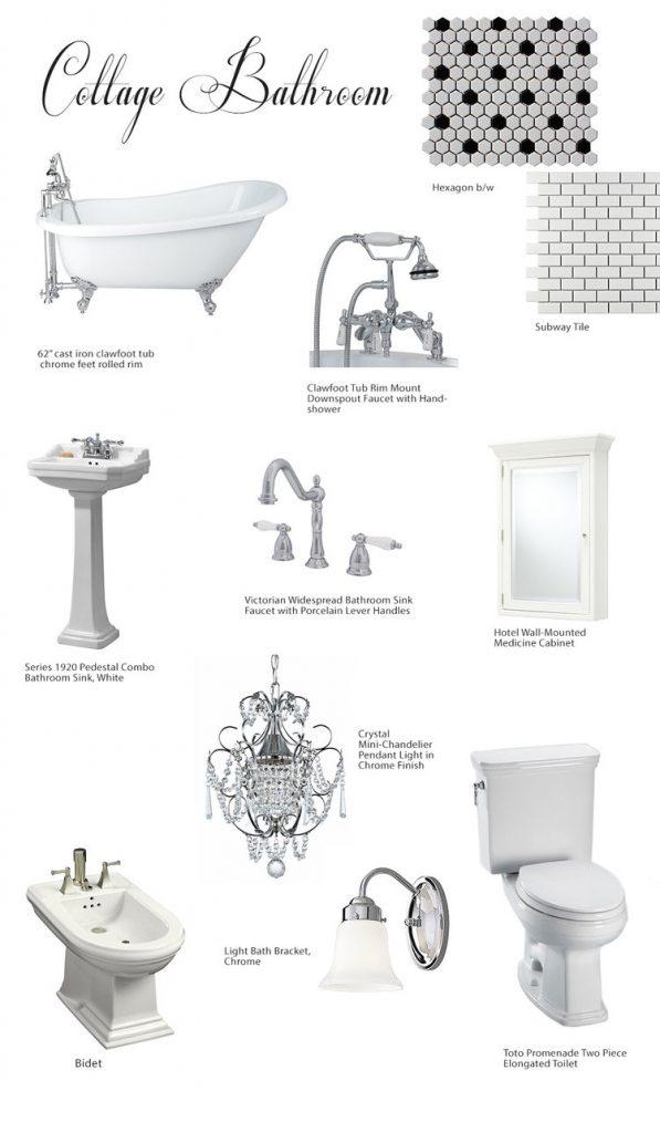 Cottage Style Bathroom Mood Board